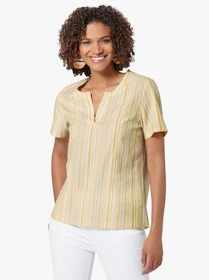 Bluse - gelb-gestreift