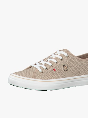 Sneaker - beige-gemustert
