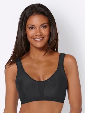 Sport-BH ohne Bügel - schwarz