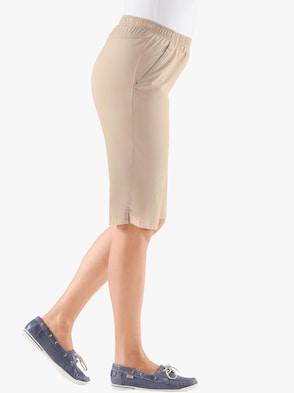 Bermuda-Jeans - beige