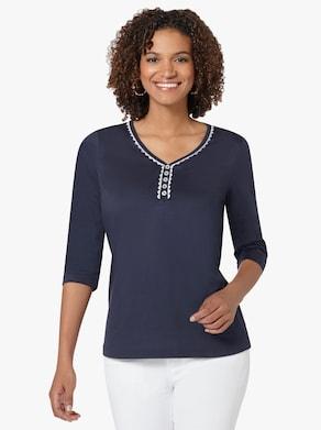 Tričko - námornícka modrá