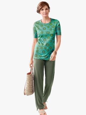 Kalhoty - olivová