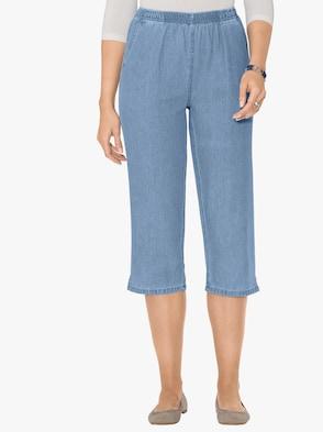Capri džíny - bělená modrá