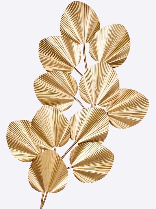heine home Wanddeko Blätter - goldfarben