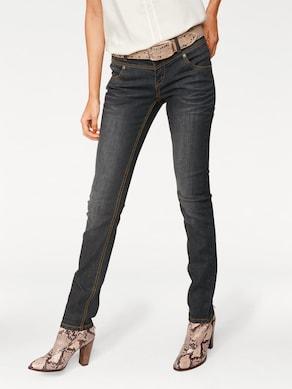 Linea Tesini Skinny-Jeans - black denim