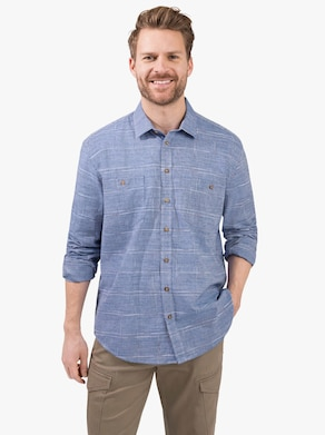 Košile s dlouhým rukávem - modrá