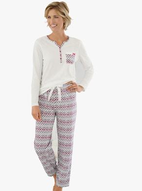 wäschepur Pyjama - wit geprint
