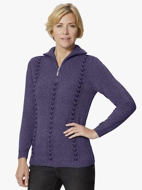 Pullover - lila-meliert