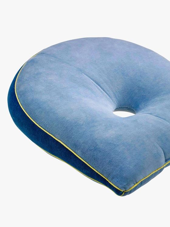 Keilkissen mit Entlastungsöffnung - blau