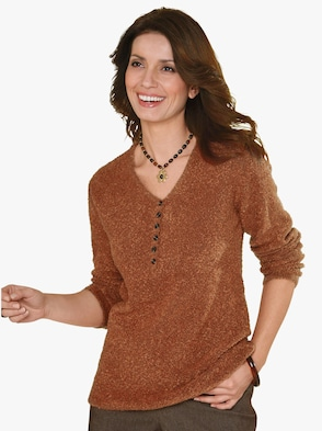 Pullover - terracotta