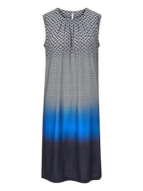 Jersey-Kleid - royal-bedruckt
