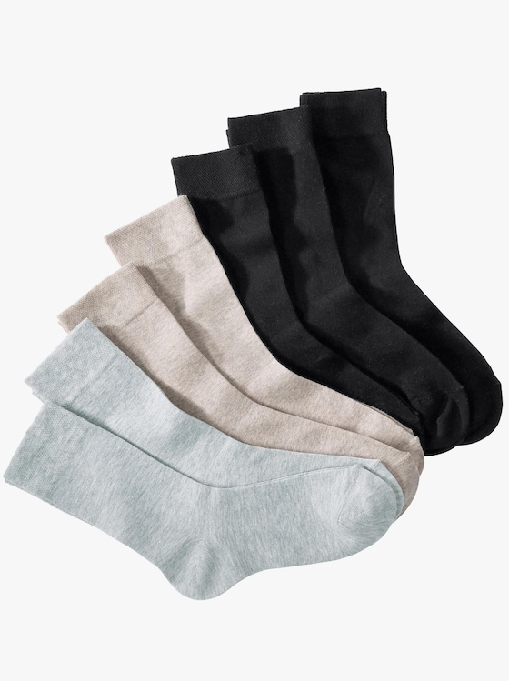 wäschepur Ponožky - 3x čierna + 2x béžová + 2x svetlosivá