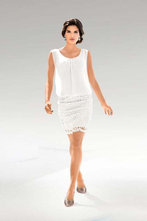 Patrizia Dini Spitzen-Kleid - offwhite