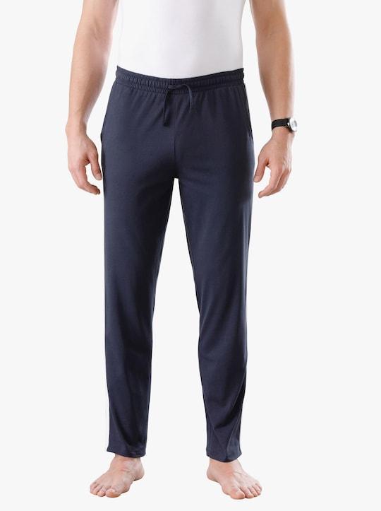 Kalhoty pro volný čas - námořnická + antracitová-melír