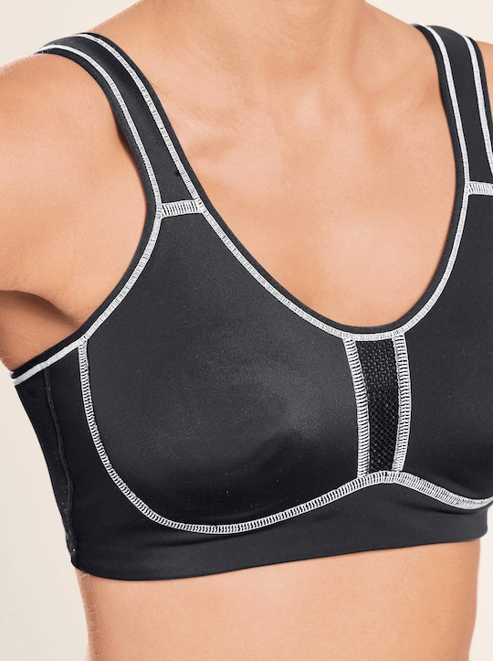 Viania Sport-BH ohne Bügel - schwarz