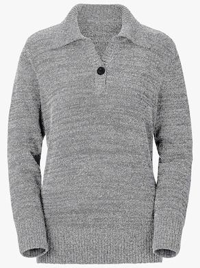 Pullover - schwarz-weiß-meliert
