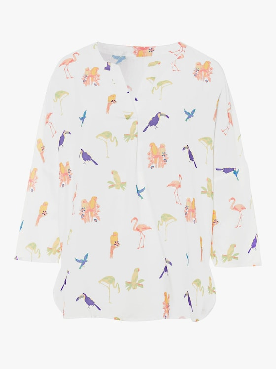 Blouse - wit geprint