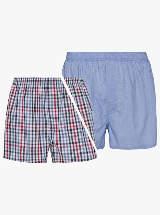 Tom Tailor Boxershorts - blauw + blauw geruit