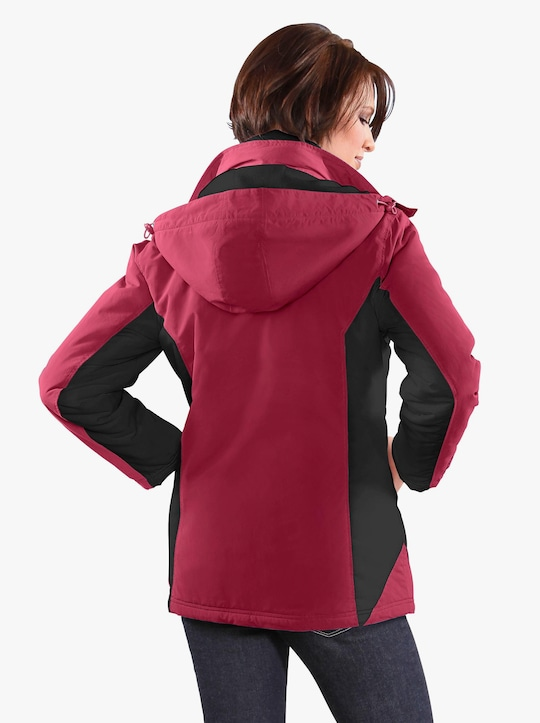 Jacke - rot-schwarz