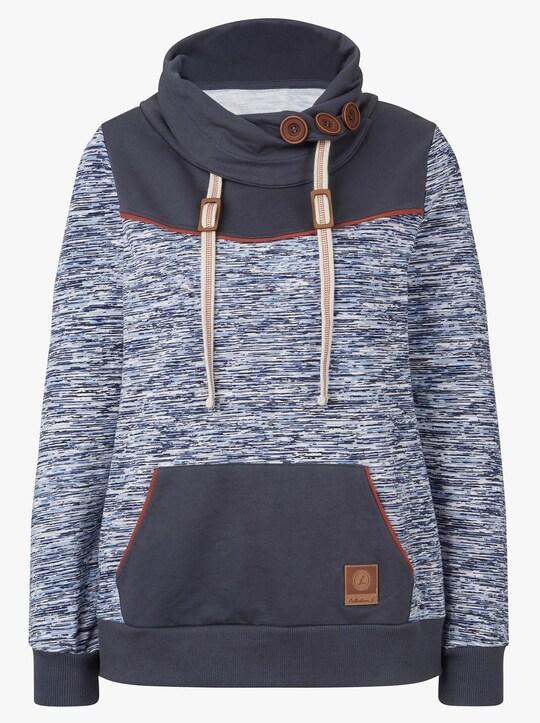 Collection L Sweatshirt - marine-weiß-gemustert