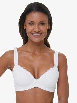 Schalen-BH mit Bügel - weiß