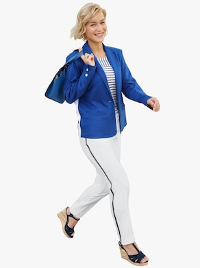 Collection L Jersey-Blazer - royalblau
