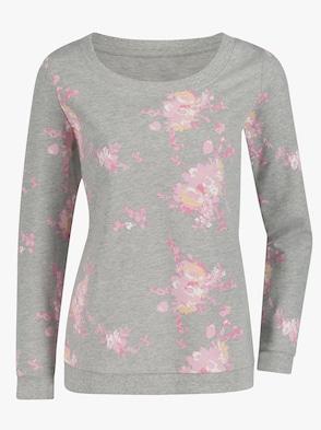 Sweatshirt - grau-bedruckt
