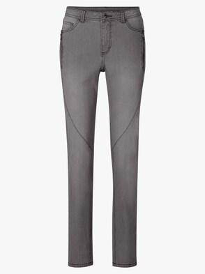 Jeans - dark grey-denim