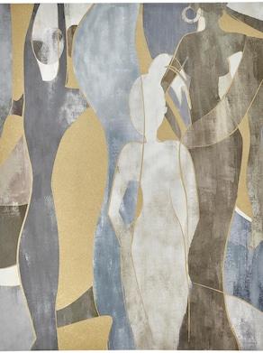 heine home Bild - grau-goldfarben