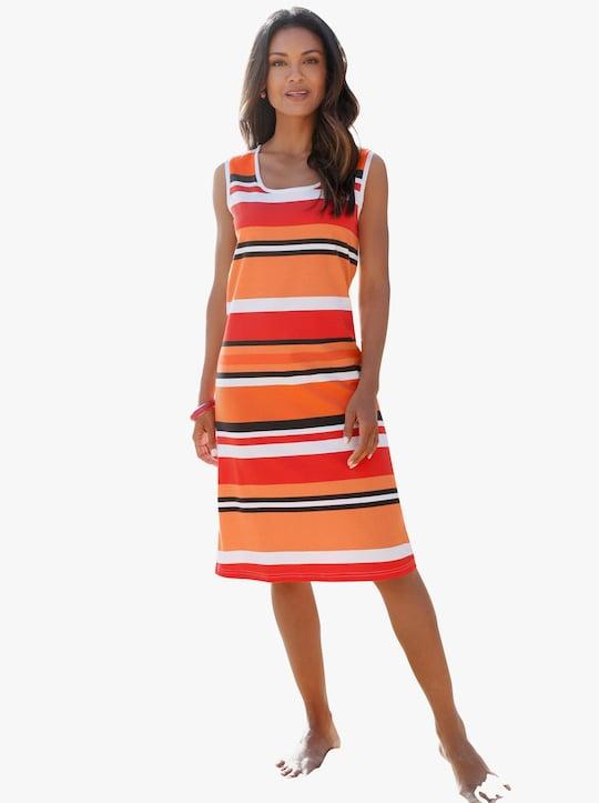 feel good Letní šaty - oranžová-proužek