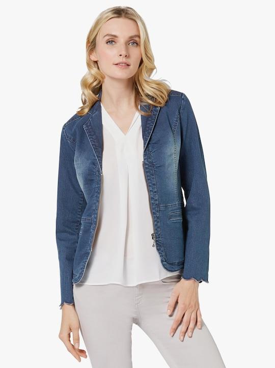 Jeansblazer - blue-stone-washed