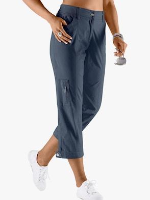 Hose wadenlang - jeansblau