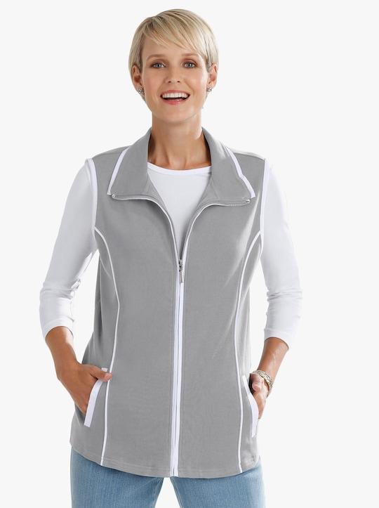 Shirtweste - grau-meliert