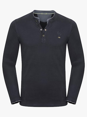 Langarm-Shirt - marine