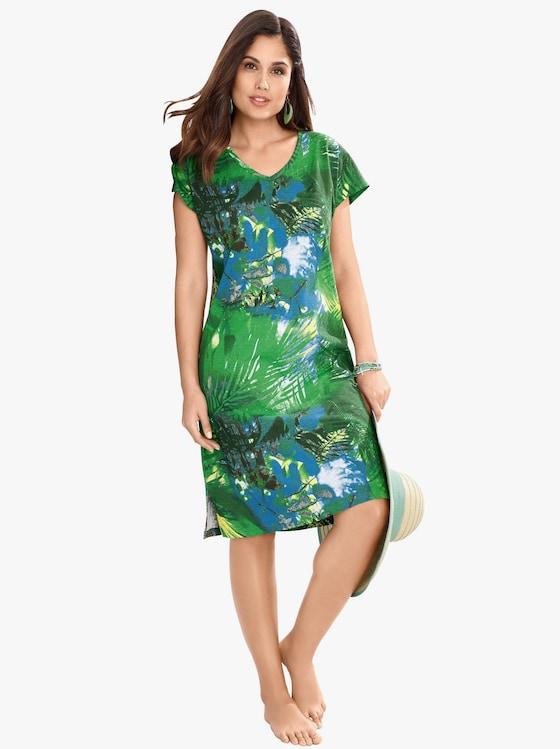 Sommerkleid - grün-blau-bedruckt