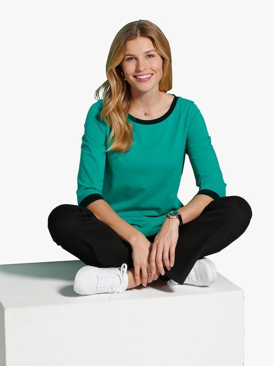 Tričko - smaragdová