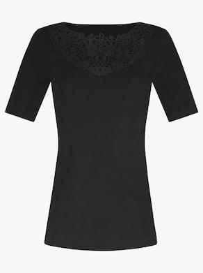 wäschepur Blazershirt - schwarz