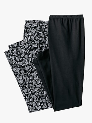 Leggings - schwarz + schwarz-bedruckt