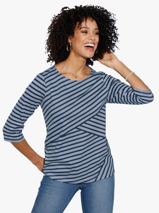Shirt - bleu-gestreift