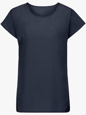Košeľová blúzka - námornícka modrá