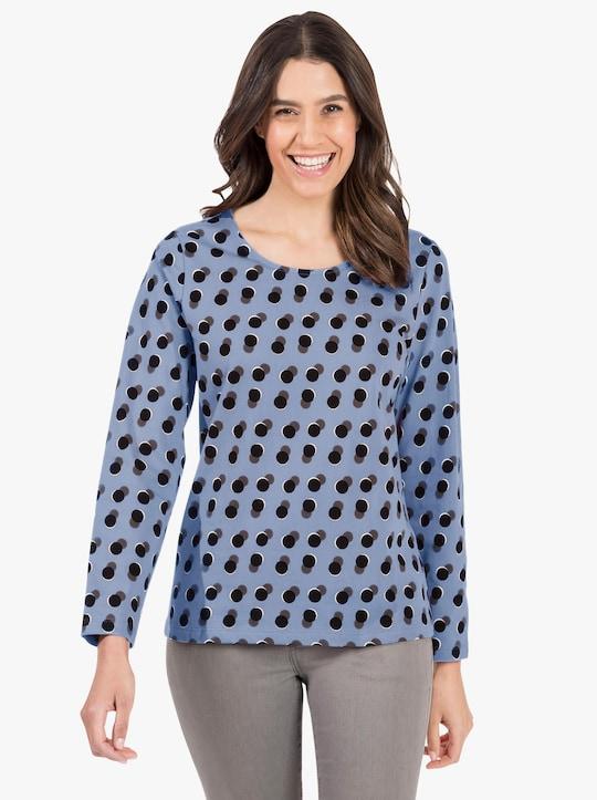 Tričko - modrá-potisk