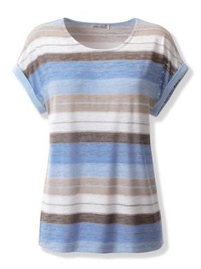 Shirt - himmelblau-gestreift