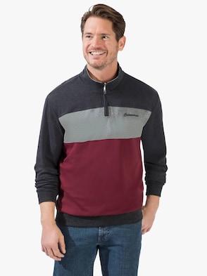 Sweatshirt - rood/antraciet