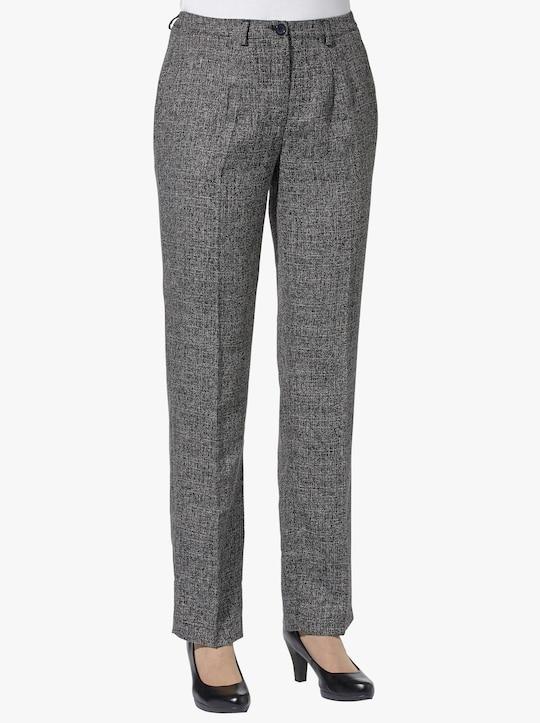 Kalhoty - černá-melír