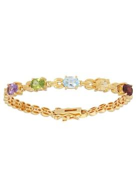 Firetti Armband - gelbgoldfarben-lila-hellgrün-hellblau-gelb-rot