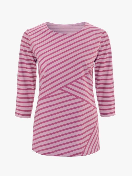Shirt - rosé-gestreift