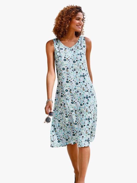 Kleid - lagune-weiß-bedruckt