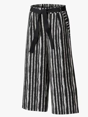Culotte - schwarz-weiß