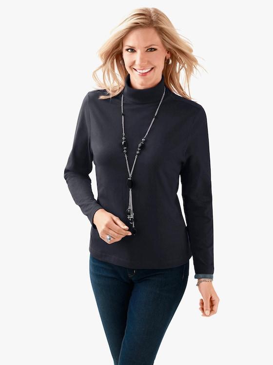 Tričko s rolákovým límcem - černá