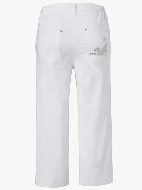 Capri-Jeans - weiß